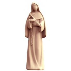 Saint Rita of Cascia Statue with Crucifix with Modern and Stylized Design from Val Gardena - Dolfi - Middle brown