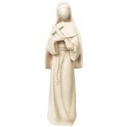 Heilige Rita der Cascia-Statue aus Holz - Natur