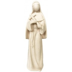 Saint Rita of Cascia Statue with Crucifix with Modern and Stylized Design from Val Gardena - Dolfi - natural