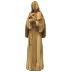 Saint Rita of Cascia Statue with Crucifix with Modern and Stylized Design from Val Gardena - Dolfi - olive