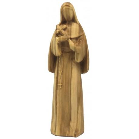 Heilige Rita der Cascia-Statue aus Holz - Olive