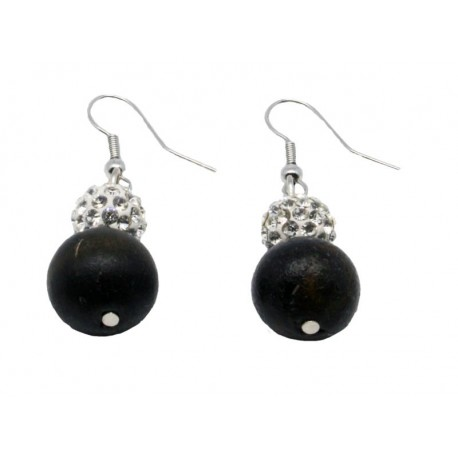 Earrings with Swarovski - Dolfi Wooden Jewellery - Made in Italy