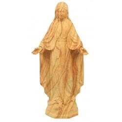 Madonna Maria Immacolata statua scolpita di legno - ulivo