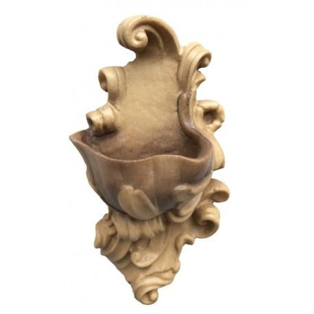 Acquasantiera scolpita finemente in legno nobile - colorato colori pastello