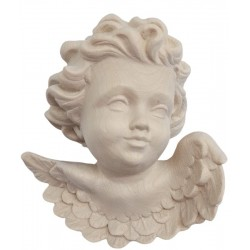 Head of Angel to Hang in wood - natural