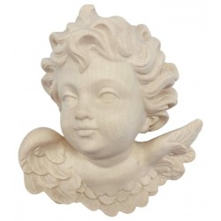 Head of Angel as Ornament in wood - natural