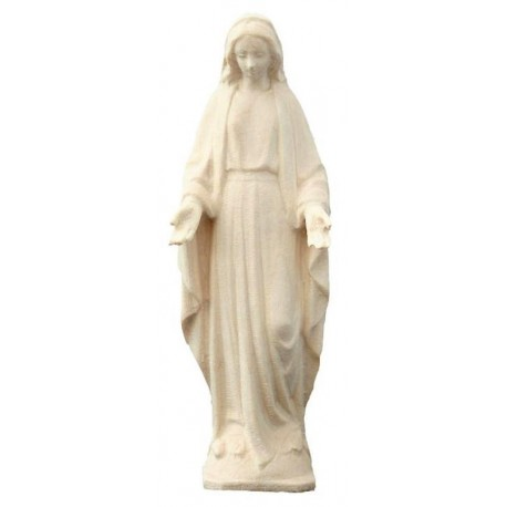 Our Lady of Grace wood carved - natural