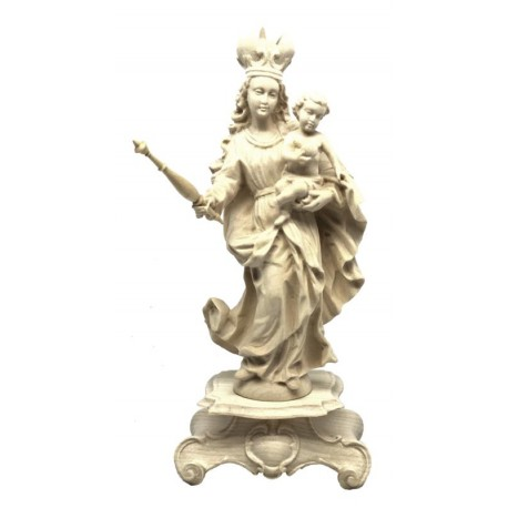 Our Lady of Bavaria in wood - natural