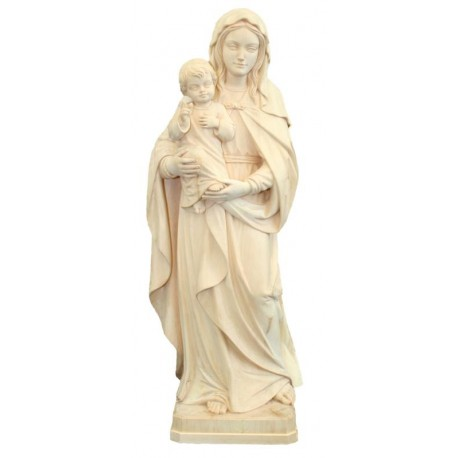 Our Lady of Hope wood statue - natural