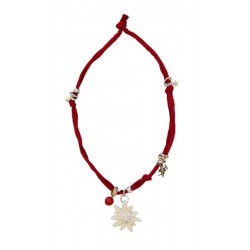 Red necklace with Swarovski