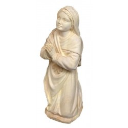 Bernadette carved in wood - natural