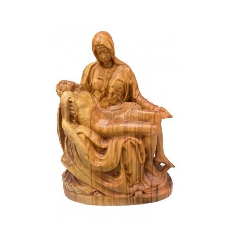 The Pietà wooden statue - olive