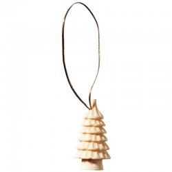 Addobbi natalizi esclusivi scolpiti in legno pregiato - naturale
