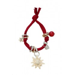 Red bracelet with Swarovski
