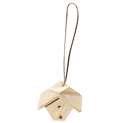 Wooden Bird-House decoration - natural