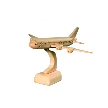 Educativo puzzle tridimensionale aeroplano
