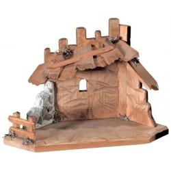 """Stable """"Malsiner"""" for Figure - Dolfi Wooden Nativity Manger - Made in Italy"""