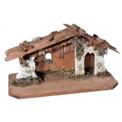 Krippen Stall aus Holz geschnitzt Orientalische Krippenställe, Original Grödner Holzschnitzereien