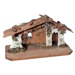 Stable for Nativity Scenes - Dolfi Outdoor Nativity Scene Stable - Made in Italy