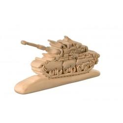 Carro armato puzzle di legno