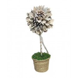 Flower with wooden Flower