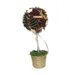 Fiore in legno 38 cm