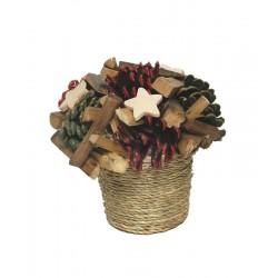 Fiore in legno naturale