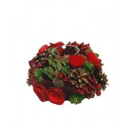 Tafelaufsatz mit Holz Blumen