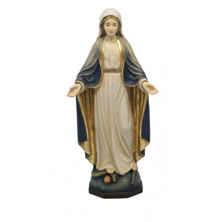 Our Lady of Grace Immaculate in wood - color