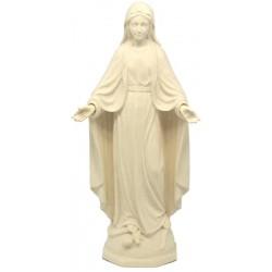 Madonna Maria Immacolata statua scolpita di legno - naturale