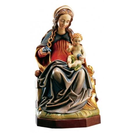 Madonna del Lume scolpita in legno pregevole