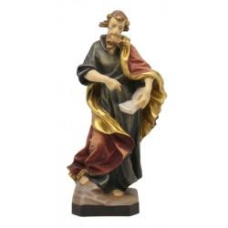 San Matteo con libro in legno - colorato a olio