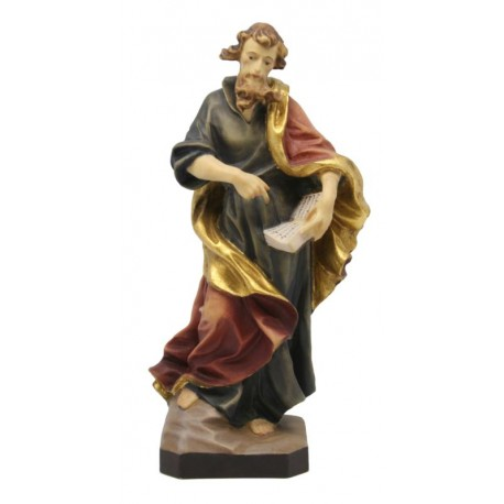 Saint Matthew with Book and Sword wood Sculpture - color