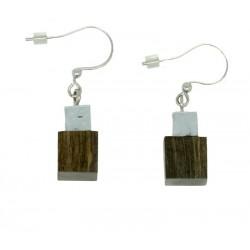 Earrings in wood