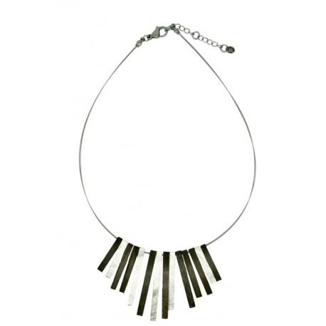 Halskette aus Nussbaum Holz - 50 cm
