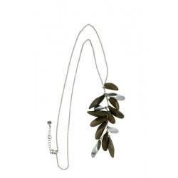 Holz-Halskette aus Nussbaum- 60 cm