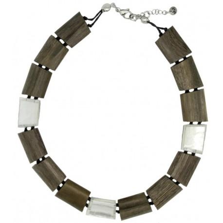 Halskette Holzschmuck