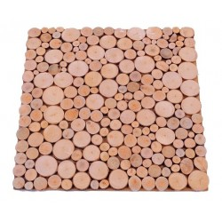 Wooden Trivet with Circles 30 X 30 cm