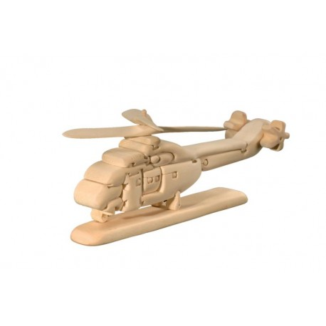 Helicopter 3D Wooden Puzzle