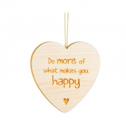 Herz aus Holz, Do more of what makes you happy, 6,5 cm