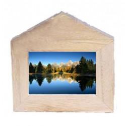 Portafoto a forma di casetta in legno - Dolfi idee regalo donna, Val Gardena