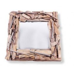 Spiegel aus Holz 32 x 32 x 4 cm