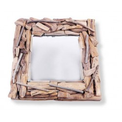 Wooden Mirror 32 X 32 X 4 cm