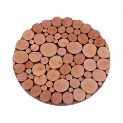 Sottopentola rotondo con rondelle di legno