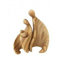 Modern Style Holy Family 3 pieces - olive