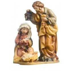 Sacra Natività Famiglia in legno - colorato a olio