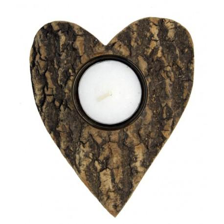 Herz mit Teelicht