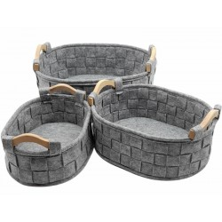 Set of 3 felt baskets