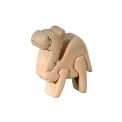 3D Puzzle in Lindenholz Kamel