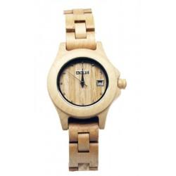 """Damenuhr """"Sunday"""" - Dolfi Armbanduhren aus Holz, diese Skulptur ist eine edle Grödner Schnitzerei"""
